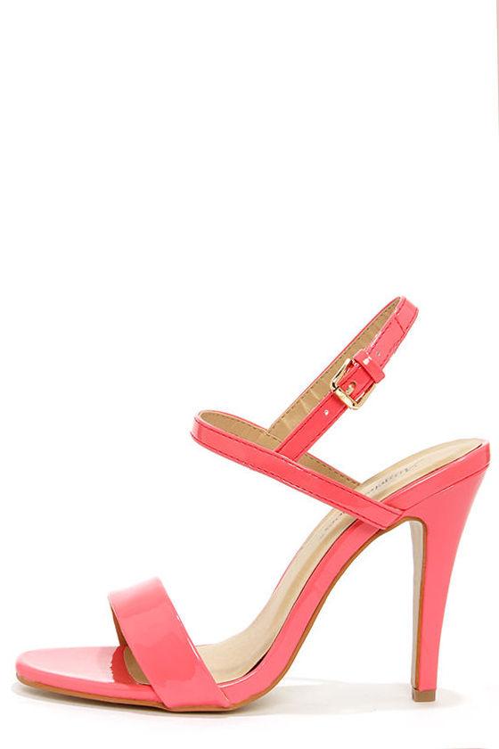 Cute Pink Heels - Strappy Heels - Dress Sandals - $41.00