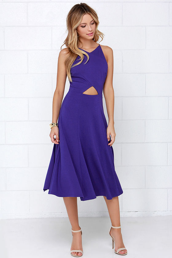 Indigo Dress Midi Dress Fit And Flare Dress 48 00