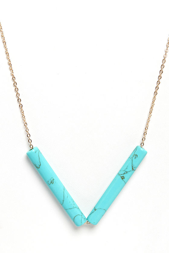 Bo-home Sweet Home Turquoise Necklace at Lulus.com!