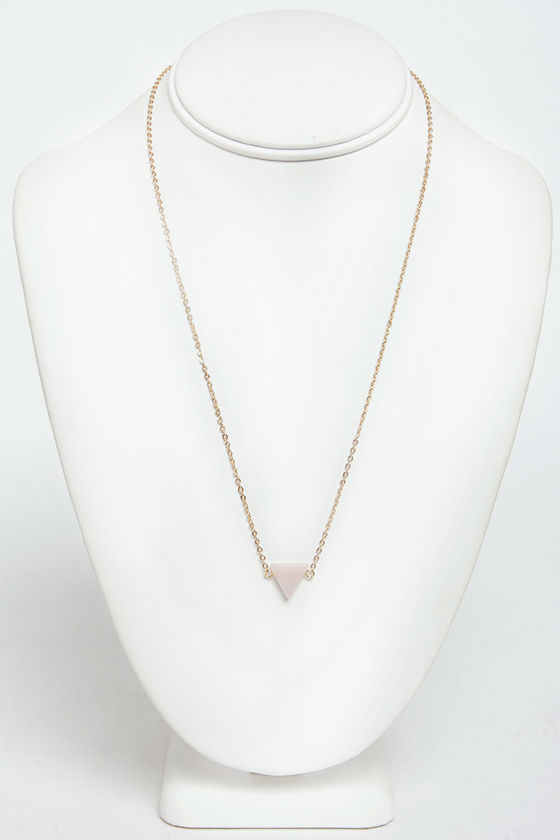 Planet of the Apex Light Pink Pendant Necklace at Lulus.com!