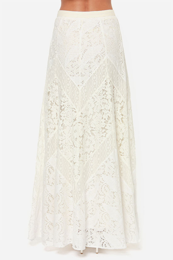 Lovely Ivory Skirt - Lace Skirt - Maxi Skirt - $102.00