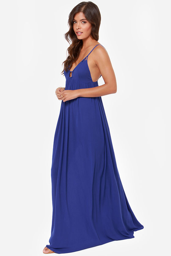 Deep End Dive Royal Blue Maxi Dress at Lulus.com!