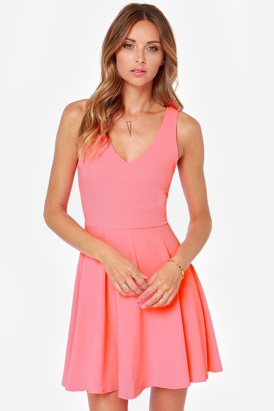 Frock Shock Neon Pink Dress at Lulus.com!