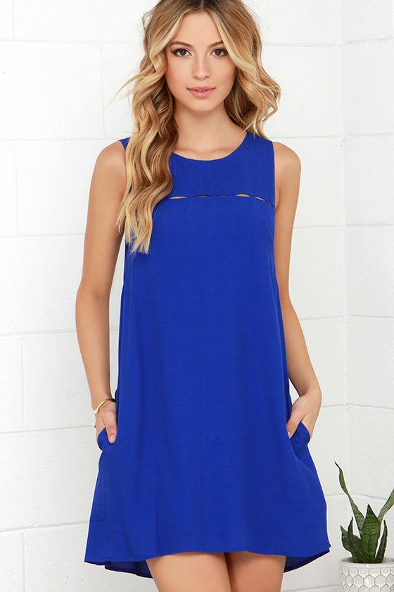 cute blue dress - cutout dress - sleeveless dress - $48.00