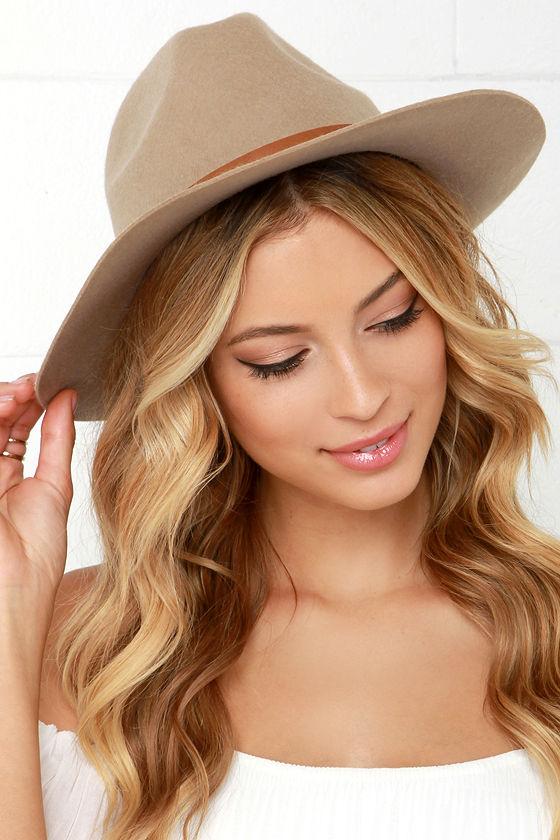 Billabong Better Over Here Hat - Beige Hat - Wool Hat - Fedora Hat ... 863bc1edc4e