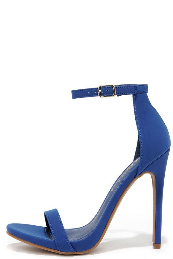 Cute Blue Heels - Ankle Strap Heels - High Heel Sandals - $34.00