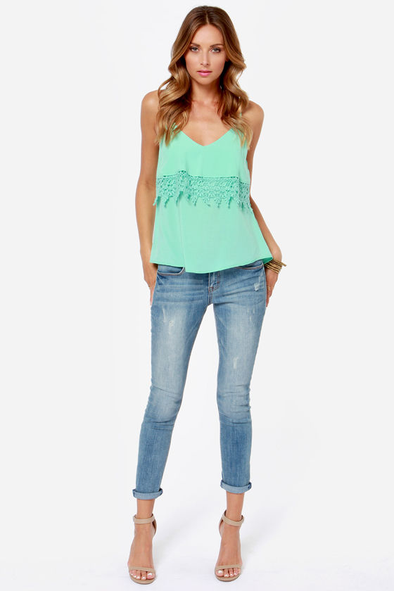 From Tier to There Mint Green Tank Top at Lulus.com!