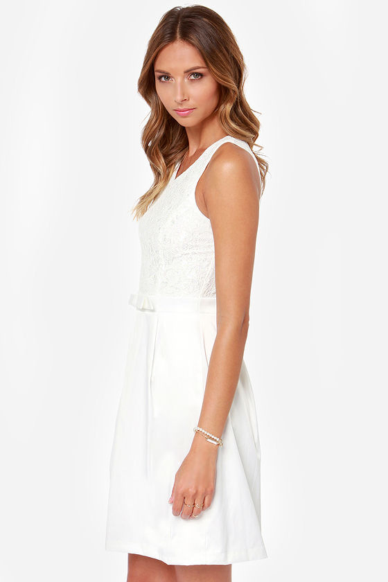 LULUS Exclusive Darling Dame Ivory Lace Dress at Lulus.com!