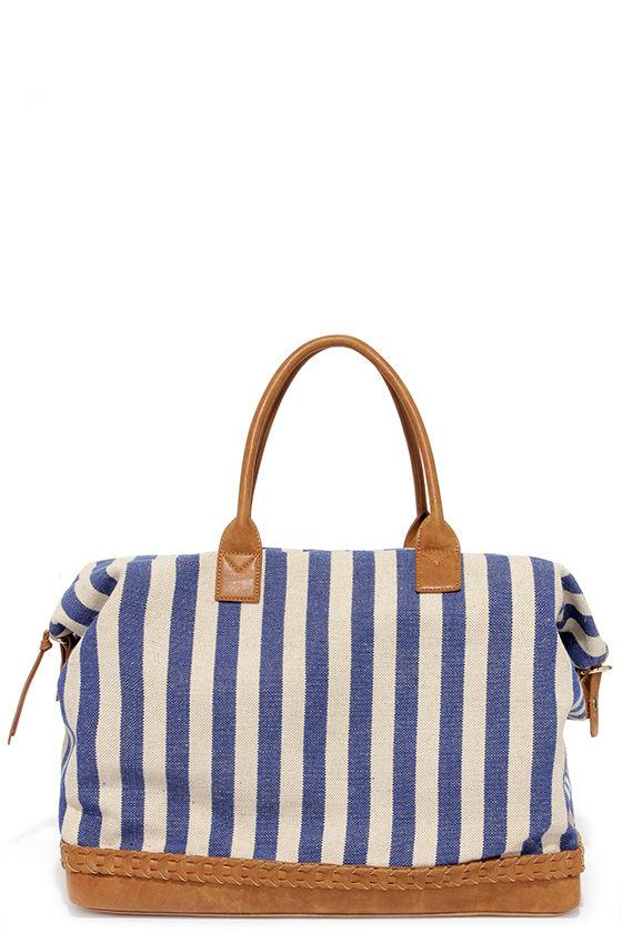 Blue Stripes Weekender Bag