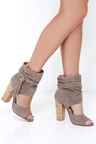 Chinese Laundry Leigh - Kid Suede Booties - Grey Booties -  149.00 0599eeb18