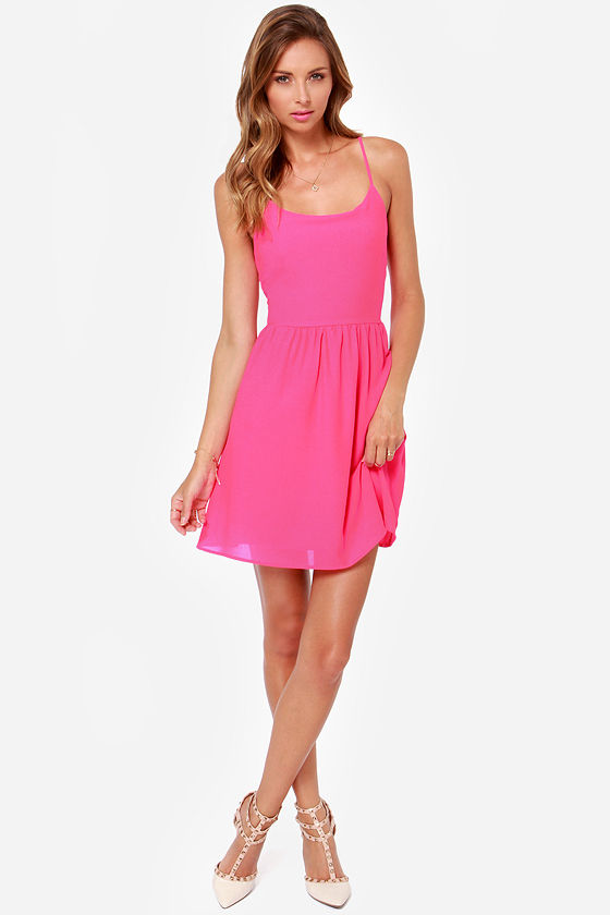 Cute or Dare Fuchsia Dress at Lulus.com!