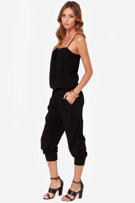 Seal of Approval Black Jumpsuit at Lulus.com!