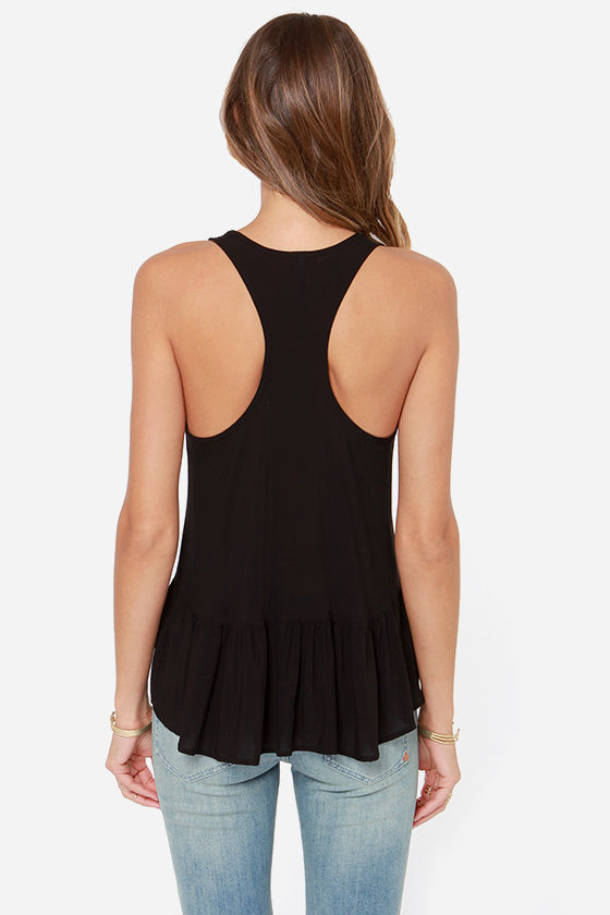 LULUS Exclusive Positive Outlook Black Top at Lulus.com!