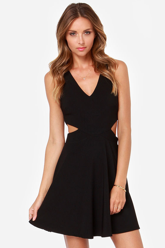 Little Black Dress with Cutouts