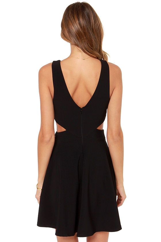 Midnight Hourglass Black Dress at Lulus.com!
