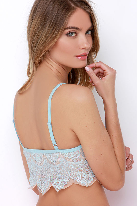 d1b91486a8e77 Light Blue Bralette - Lace Bralette - Lace Bra -  24.00