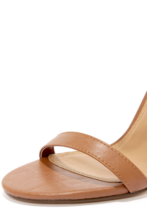 My Delicious Chacha Tan Matte Single Strap High Heels at Lulus.com!