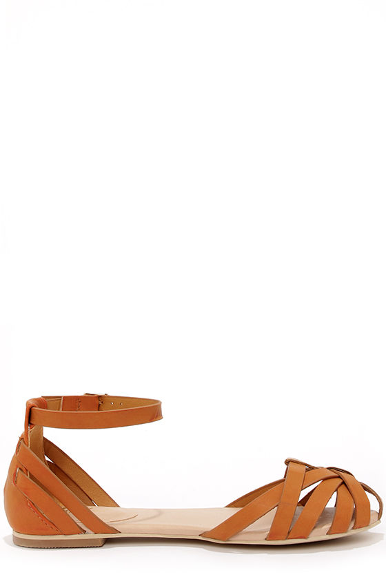 Mixx Shuz Brady Tan Strappy Flat Sandals at Lulus.com!