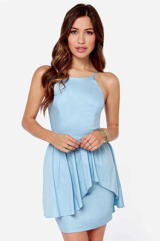 Pretty Light Blue Dress - Cocktail Dress - $42.00