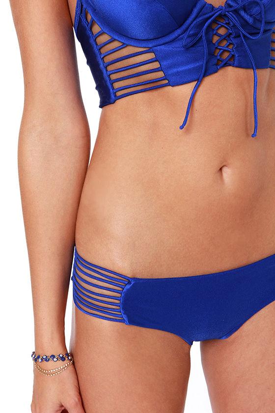 Luli Fama Verano De Rumba Blue Corset Bikini at Lulus.com!