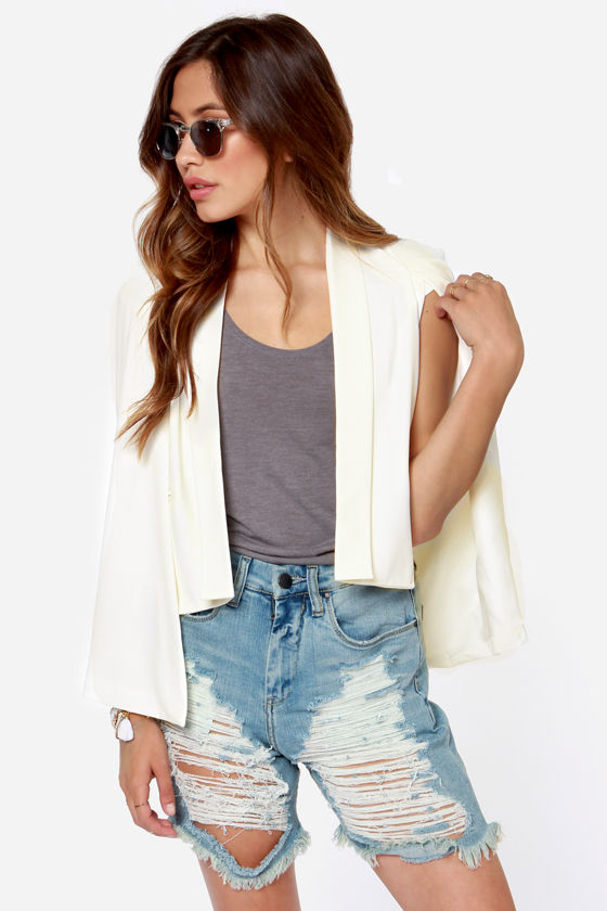 Lumier Angel Wings Ivory Blazer at Lulus.com!