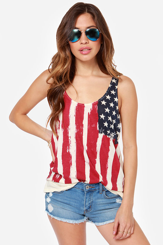 752705a92a7 Others Follow Justice Top - American Flag Top - Tank Top - $43.00