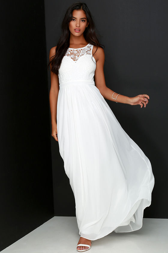 Ivory maxi dress casual