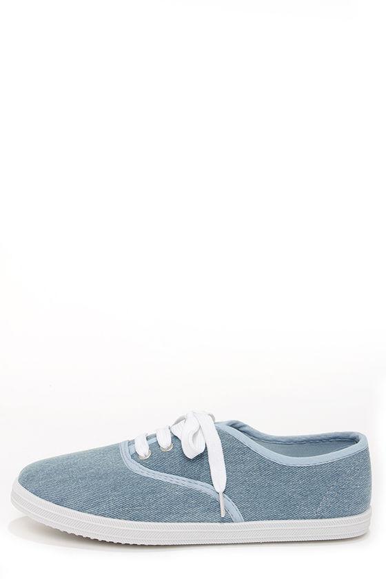 Cute Light Blue Sneakers - Denim