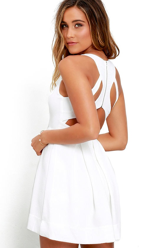 LULUS Exclusive Test Drive Ivory Dress at Lulus.com!