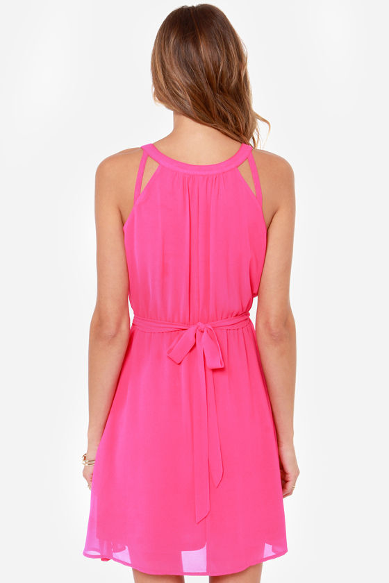LULUS Exclusive Change Your Tune Hot Pink Dress at Lulus.com!