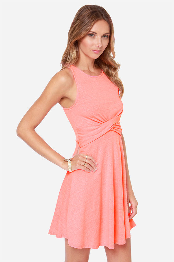Cross Examine Neon Pink Dress at Lulus.com!
