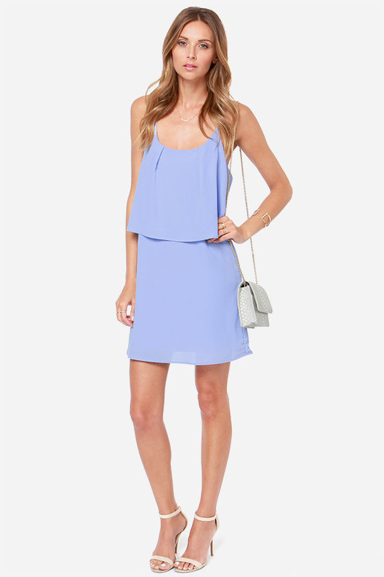 I'm All Tiers Periwinkle Blue Dress at Lulus.com!