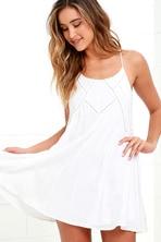 80c1a7f4dcd Pretty White Sheath Dress - Ruffle Detail Dress - White Dress