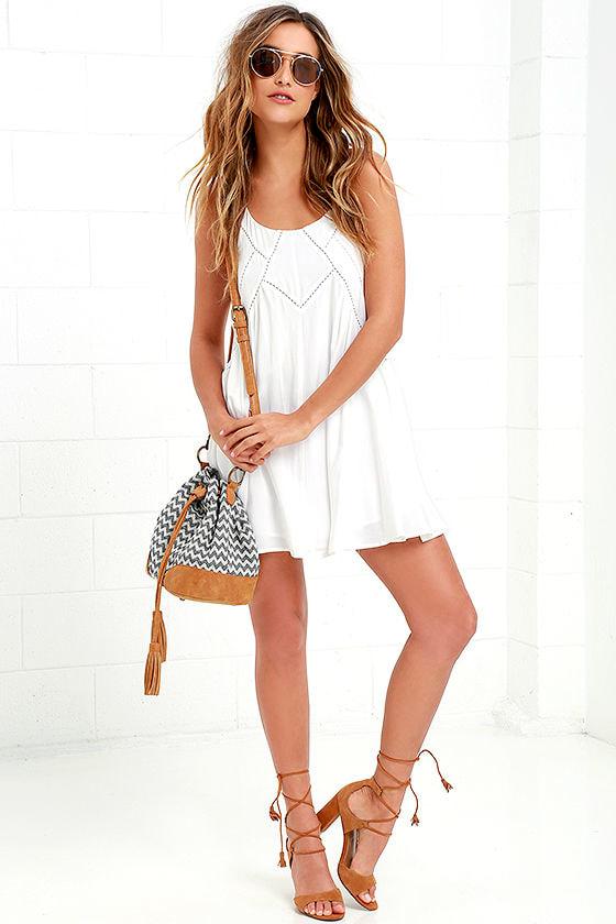 Easy Honey Ivory Slip Dress 2