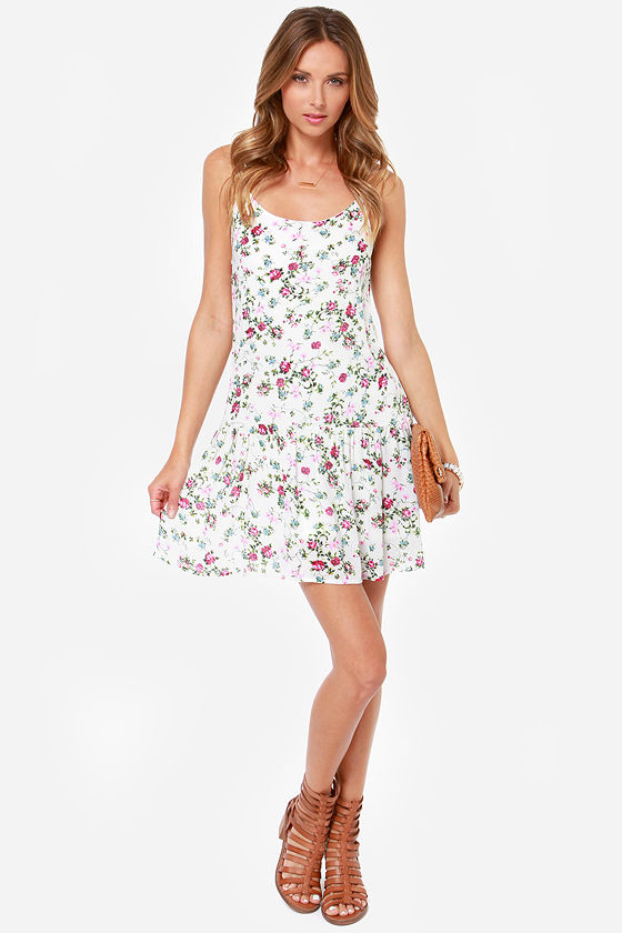 Young Bud Cream Floral Print Dress at Lulus.com!