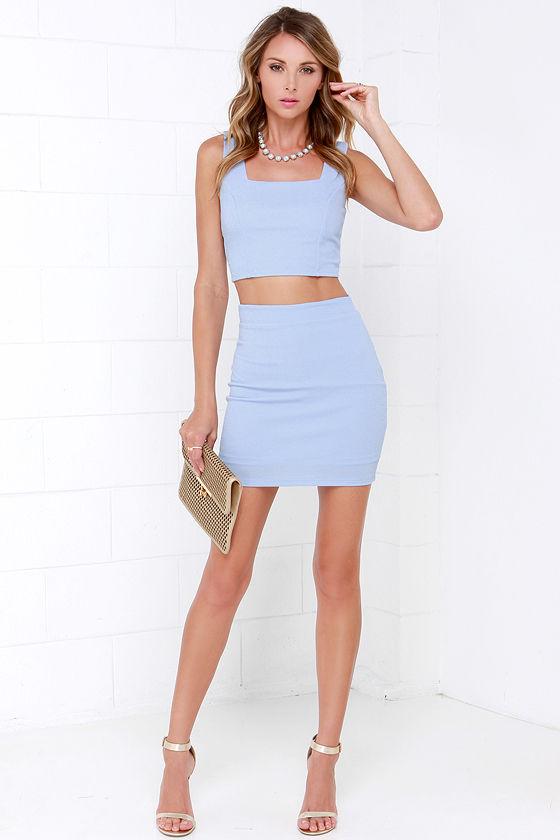 8941f9b4f Two-Piece Dress - Periwinkle Dress - Bodycon Dress - $49.00