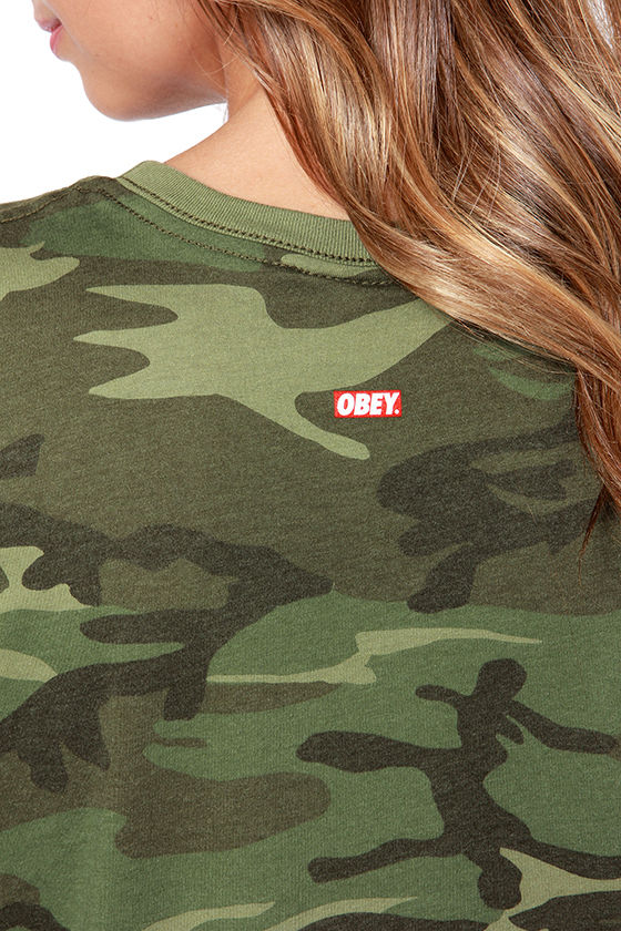 Obey Camo Moto Green Camo Print Muscle Tee at Lulus.com!