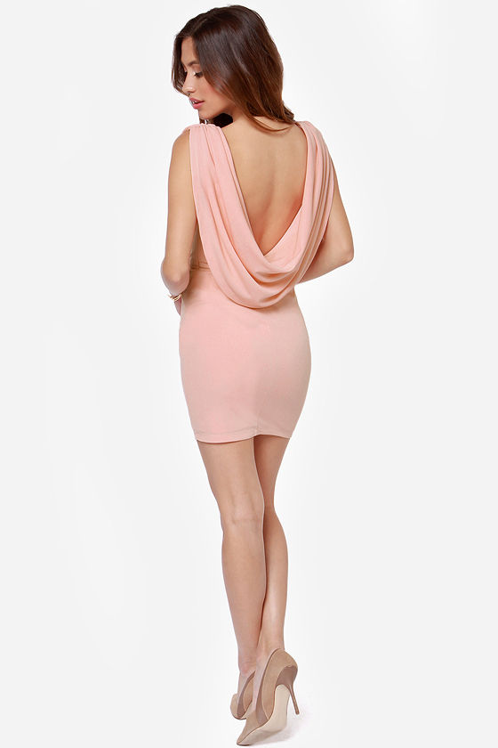 LULUS Exclusive Swank You Very Much Backless Peach Dress at Lulus.com!