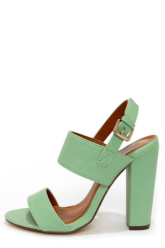 cbcc319fe85 Cute Mint Heels - High Heel Sandals -  32.00
