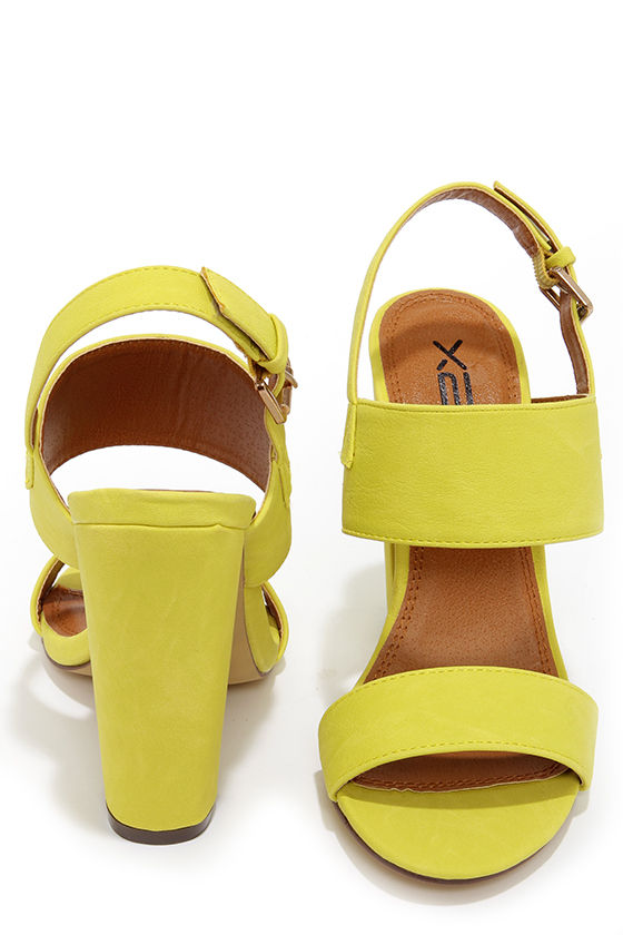3b298aae0cd Cute Yellow Heels - High Heel Sandals -  32.00