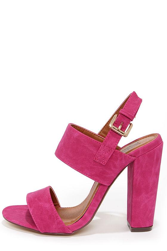 38a38b8868 Cute Fuchsia Heels - High Heel Sandals - $32.00
