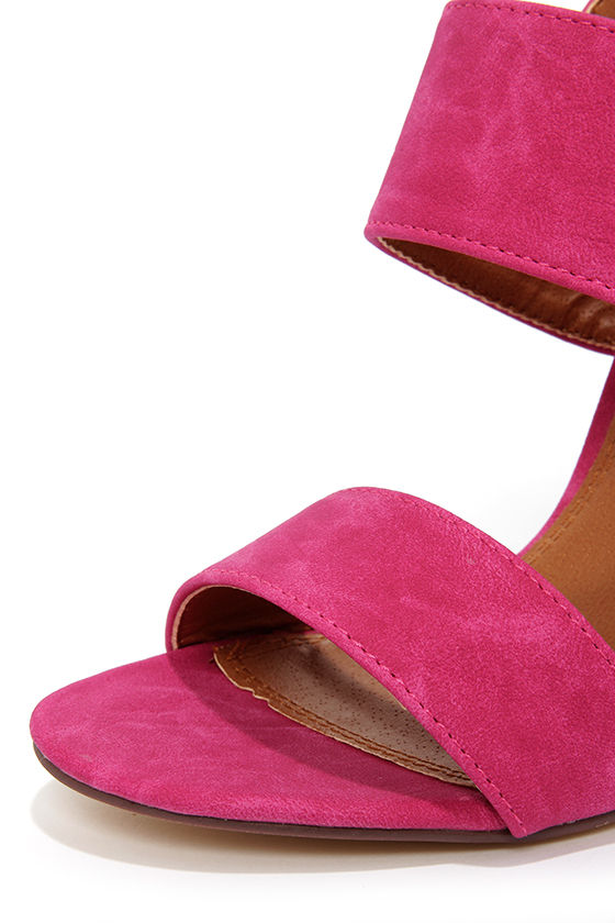 Fay 1 Fuchsia High Heel Sandals at Lulus.com!