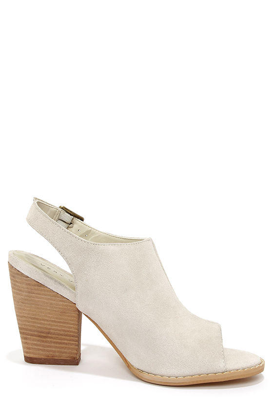Very Volatile Ecletic Ice Leather Peep Toe Heels at Lulus.com!