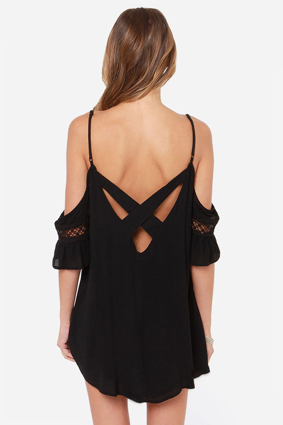 Nama-Stay the Night Black Dress at Lulus.com!