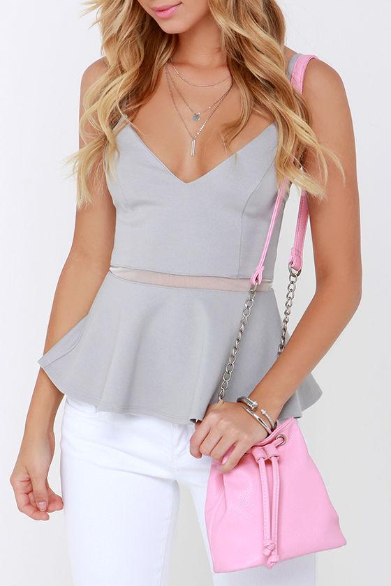 Cute Pink Bucket Bag - Mini Bucket Bag - Vegan Leather Bag -  42.00