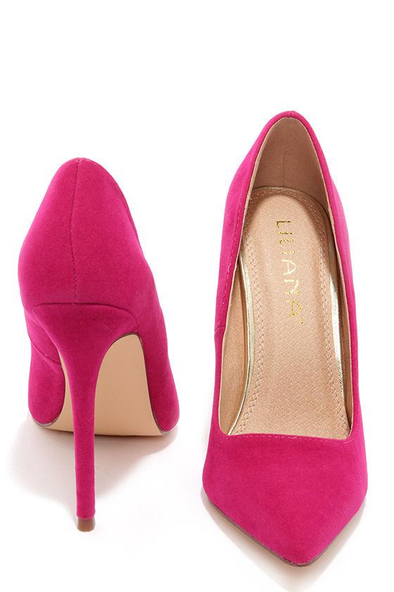 Pointed Pumps - Fuchsia Pink Heels
