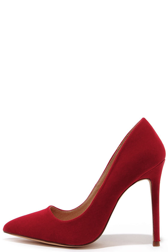 Sexy Red Pumps - Pointed Pumps - Red Heels - $30.00