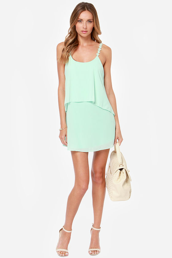 Daisy-ing is Believing Mint Dress at Lulus.com!