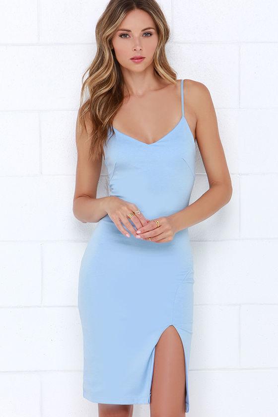 Chic Light Blue Dress - Bodycon Dress - Sleevelss Dress - $43.00