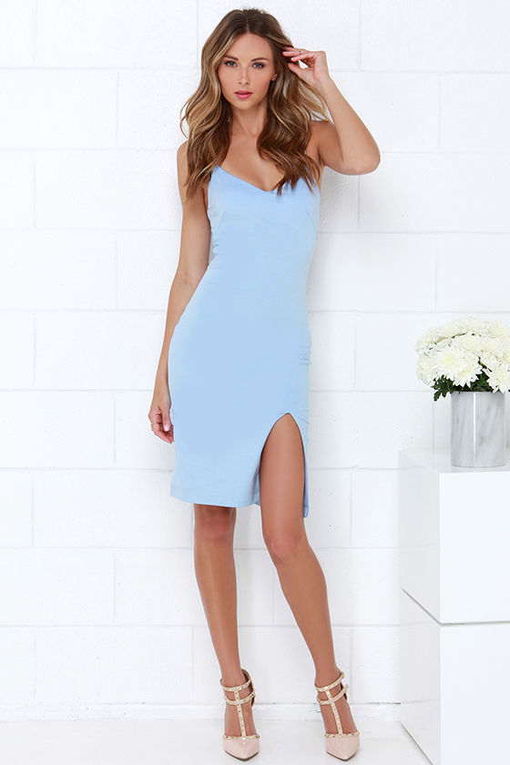 87a66d85e5 Chic Light Blue Dress - Bodycon Dress - Sleevelss Dress -  43.00